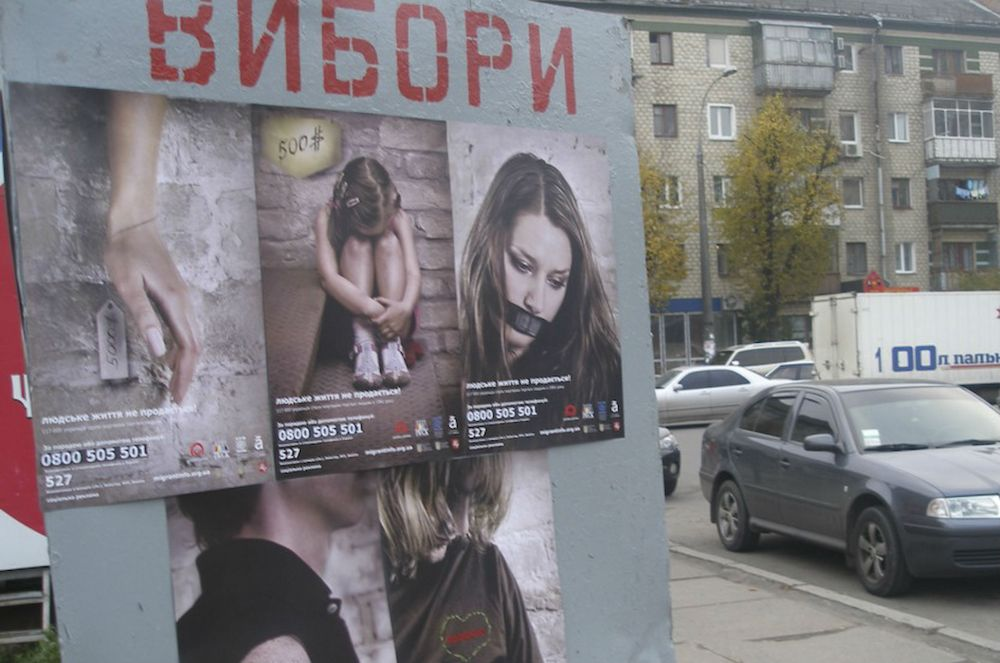 Human-life-is-not-for-sale-reads-a-poster-in-Kyiv-that's-part-of-a-campaign-against-human-trafficking